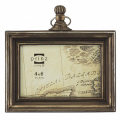 4x6 Mackenzie Antique Brass Pocket Watch Resin Frame