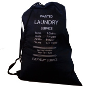 Wajt Najt - Best Laundry Bag with Reinforced Shoulder Strap and Drawstring - Large Size 70cm x 100cm for College Dorm Room and Households - Perfect Gift