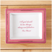 """Two's Company Wise Sayings Desk Tray, """"Classy & Fabulous"""""""
