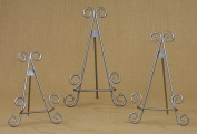 23cm Silver Finish Stratford Metal Easel Photo Book Display Stand