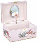 """MusicBox Kingdom 28050 Ballerina Shoes Jewellery Music Box Playing The Melody """"Swan Lake"""""""