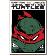 Teenage Mutant Ninja Turtles Silver Buffalo NT0936 Red Mask Wood Wall Art Plaque, 33cm by 48cm