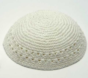 White Knitted Kippah By YourHolyLandStore