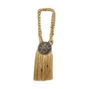 India House 76726 Tieback Medallion Tassel, 23cm , Gold Mix