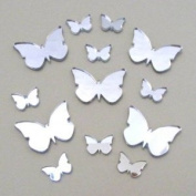 """Butterfly Big Wings Mirrors Pack of 20 (Size of each butterfly 1.5"""" wide by 1.1"""" height)"""