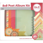We R Memory Keepers Post Bound Album Kit, 20cm by 20cm , 280-Pack