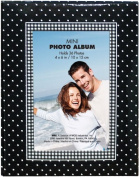 Brag Book With Frame 36 Pocket 10cm x 15cm -Black With White Dots