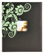 Pinnacle Frames and Accents Floral 400-Pocket Ring Bound Photo Album with Frame Front