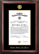 Air Force Commission Frame Gold Embossed