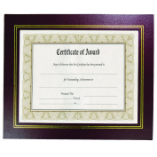 22cm x 28cm Leather Grain Certificate Frame Two Pack, Burgundy