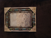 Belle Maison 4x6 Picture Frame Jewelled gold and coloured stones