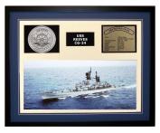 Navy Emporium USS Reeves CG 24 Framed Navy Ship Display Blue