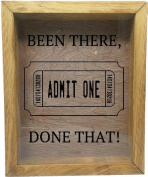 Wooden Shadow Box Wine Cork/Bottle Cap Holder 23cm x 28cm - Been There Done That with Ticket