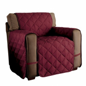 Innovative Textile Solutions Microfiber Ultimate Solid Furniture Protector Chair, Burgundy