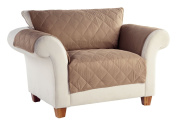 Tailor Fit No Slip Diamond Quilted Furniture Protector, Loveseat, Stonewear