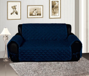 Bednlinens Navy Blue Quilted Micro Suede Pet Dog Loveseat Cover Protector Throw