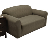 Stretch Sensations Optic Loveseat Stretch Slipcover, Sage