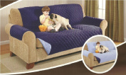 Deluxe Reversible Sofa Furniture Protector, Blue / Light Blue