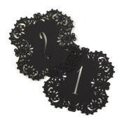 Hortense B. Hewitt 30841 Laser Cut Table Number Cards, Numbers 1 to 10, Black