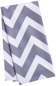LinenTablecloth Charcoal and White Chevron Kitchen Towels, 2-Pack