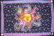 Psychedelic Celestial Tapestry-Wall-Beach-Bed-Many Uses