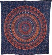 Luna Bazaar Kira Elephant Mandala Tapestry, Bohemian Wall Hanging and Bedspread