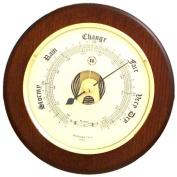 Brass Precision Barometer on Cherry Wood