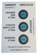 Humidity Indicator Cards - 30-50% 3 Spot - 50 Card Pack