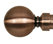 Home Décor Int'l Ball Finial for Window, Antique Copper, Set of 2