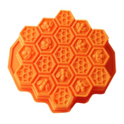 Wholeport Honeycomb Cake Moulds for Kids 17-Hole Silicone Baking Cake Mould Bakeware