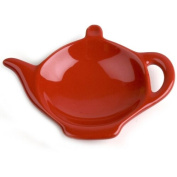Omniware Simply Red Ceramic Tea Caddy and Infuser Holder