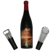 Star Kitchen & Home 3-Piece Wine Bottle-Shaped Corkscrew Gift Set