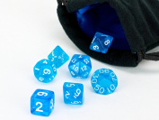 Polyhedral Dice Set | Blue Translucent | 7 Piece | PRISTINE Edition | FREE Carrying Bag | Hand Checked Quality With.