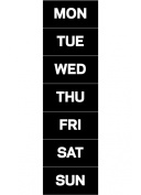 MasterVision Days of the Week Magnets, 2.5cm x 5.1cm Each, 7 Magnets, Black/White