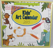 Paper Craft 2015 Kids' Art Calendar 16 Month Colouring Book with Over 100 Stickers Included