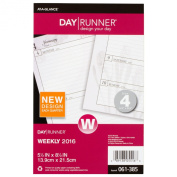 Day Runner Nature Classic Weekly Planner Refill 2016, 14cm x 22cm Page Size