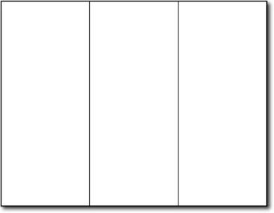 17kg Bond White Trifold Brochures - 200 Brochures