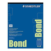 Staedtler(R) Bond Paper, 43cm . X 60cm ., White With Blue Grid, 50 Sheets