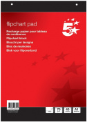 5 Star Office Flipchart Pad Perforated 40 Sheets A1 Plain