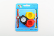 Loomey Time Watch Red/Yellow/Blue