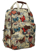 SWANKYSWANS Womens Atlantis Butterfly Map Essex Ipad Case Backpack Handbag