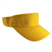 Enimay Sports Tennis Golf Sun Visor Hats Adjustable Velcro Plain Bright Colours