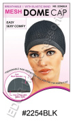 Murry Collection Mesh Dome Cap Breathable With Elastic Band No 2254BLK