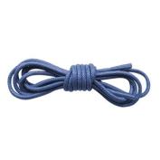 Blue Coloured Shoelaces 2.5mm 95cm Long Thin Cotton Waxed Shoe laces For Mens Shoes, Leather Oxford Brogues, Dress Shoes, Smart Shoes