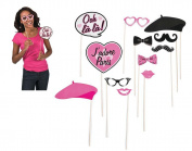 French or Parisienne Photo Booth Props for Weddings & Parties
