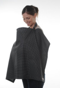 BabyBud Breastfeeding Cover - Grey or Black with White Dots - Free P & P