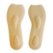 Footful Women's Sponge Arch Heel Support Insoles 3/4 Length Beige