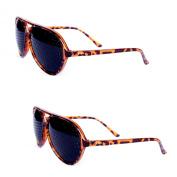 FreshGadgetz Set of 2 Pinhole Glasses for Eyesight Strengthening - Tortoise Shell Imitation