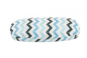 Chevron Glasses Case (Teal), Decorative Hard Protective Storage Case For Your Glasses, Suitable To Hold Regular Sized Glasses, Length: 16cm Width