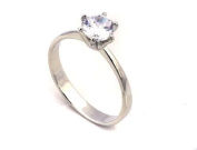 Sparkling CZ ring For Women Platinum Plated Wedding Engagement Solitaire ring